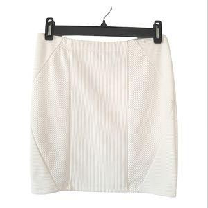 FOREVER 21 Stretchy Mini White Skirt